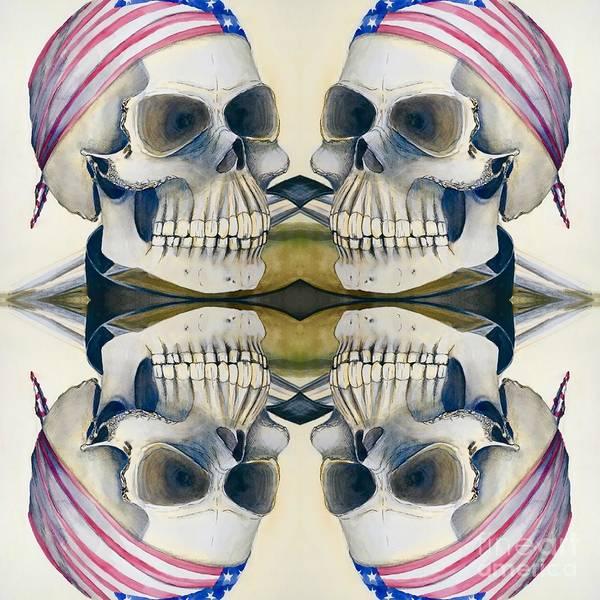 Digital Art - Four Skulls by Mastiff Studios