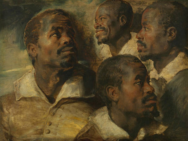 Painting - Four Studies Of A Head Of A Moor by Peter Paul Rubens