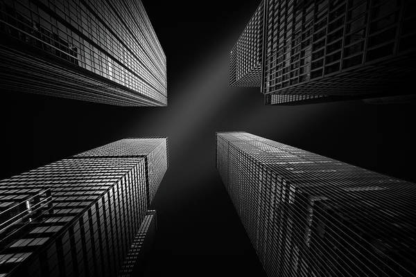 Photograph - Four Towers by Mihai Andritoiu