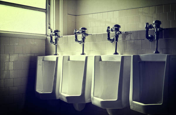 Toilet Photograph - Four Urinals In A Row by YoPedro