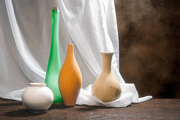 Vases Photograph - Four Vases II by Tom Mc Nemar
