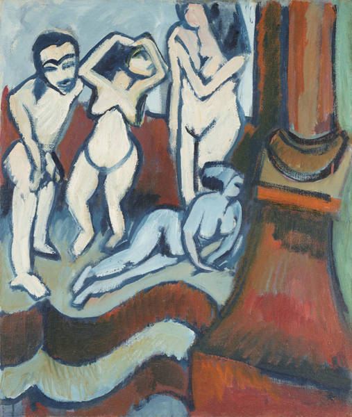 Painting - Four Wood Sculptures by Ernst Ludwig Kirchner