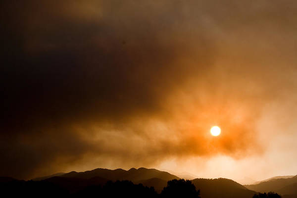 Photograph - Fourmile Canyon Fire Sunset Boulder County Colorado by James BO Insogna