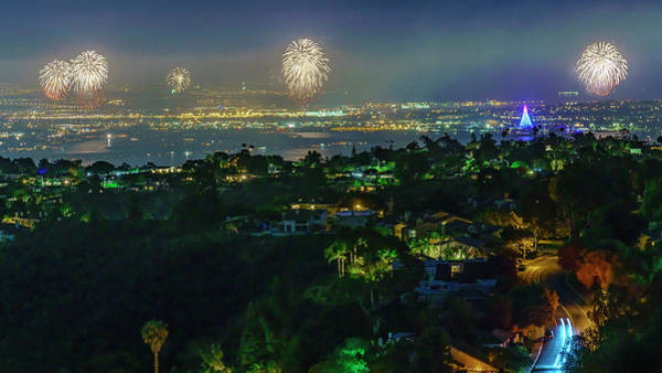 Mount Soledad Wall Art - Photograph - Fourth Of July Celebration In San Diego by McClean Photography