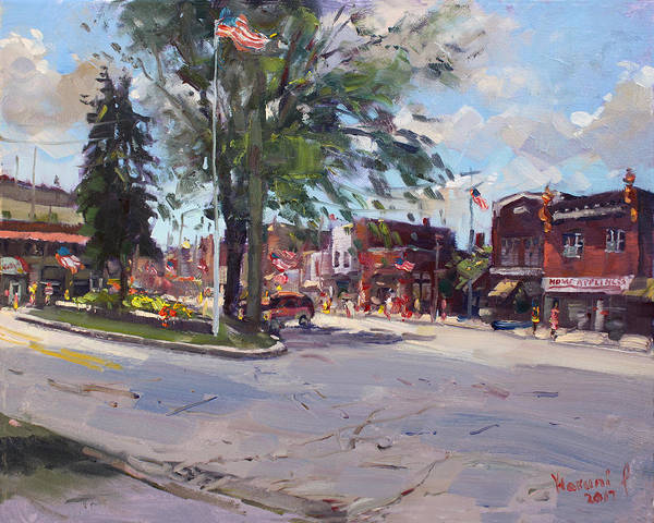 Wall Art - Painting - Fourth Of July In North Tonawanda by Ylli Haruni