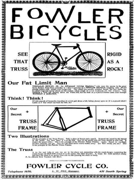 Photograph - Fowler Bicycles  by Bill Cannon