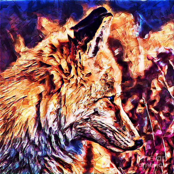 Mixed Media - Fox 3 by Lita Kelley