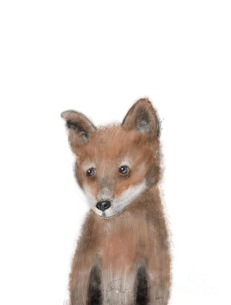 Wall Art - Painting - fox by Bri Buckley