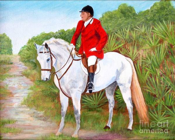Wall Art - Painting - Fox Hunt On Remmington by Pauline Ross