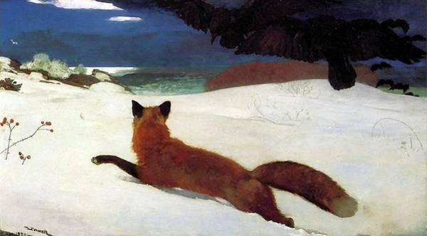 Darwinian Painting - Fox Hunt by Winslow Homer