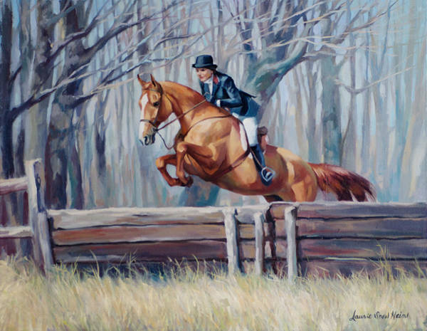 Fox Hunt Wall Art - Painting - Fox Hunter by Laurie Snow Hein