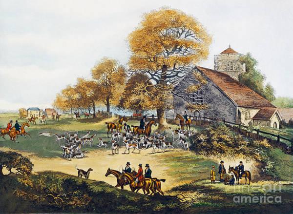 Wall Art - Painting - Fox Hunting In Surrey by Dean Wolstenholme Elder