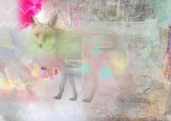Fox In The Fog  Art Print