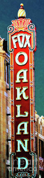 Photograph - Fox Theater In Oakland California 7d6737 Long by Wingsdomain Art and Photography