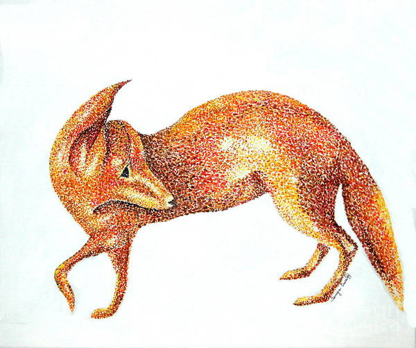 Painting - Fox Trot by Tamyra Crossley