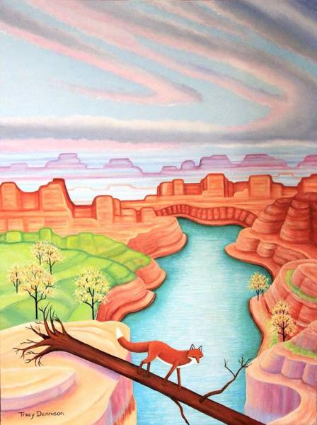 Painting - Fox Trotting by Tracy Dennison