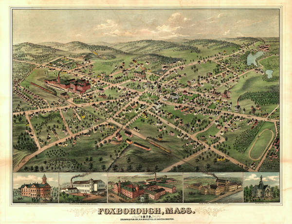 1879 Painting - Foxborough, Mass by Bailey