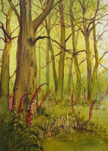 Painting - Foxgloves In Fairy Call Beck by Glenn Marshall