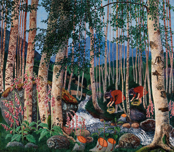 Wall Art - Painting - Foxgloves by Nicolai Astrup