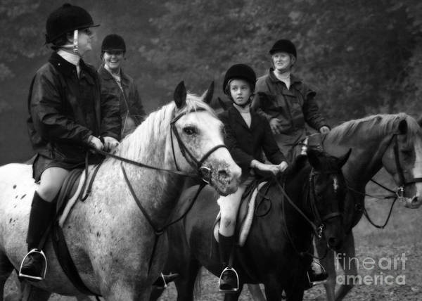 Photograph - Foxhunting Black And White by Angela Rath