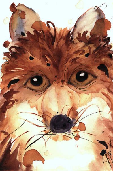 Painting - Foxy by Dawn Derman