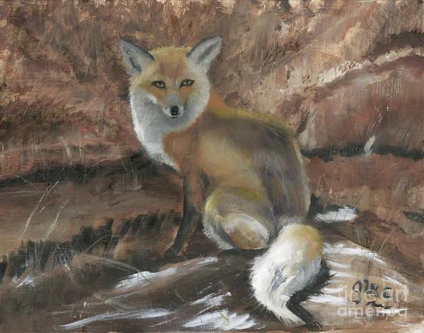 Wall Art - Painting - Foxy by Gloria Condon