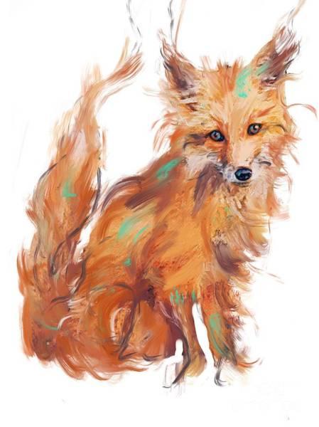 Painting - Foxy by Lisa Owen-Lynch