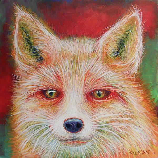Painting - Foxy-loxy by Angela Treat Lyon