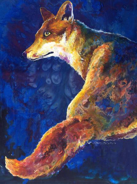 Painting - Foxy by Sherry Shipley