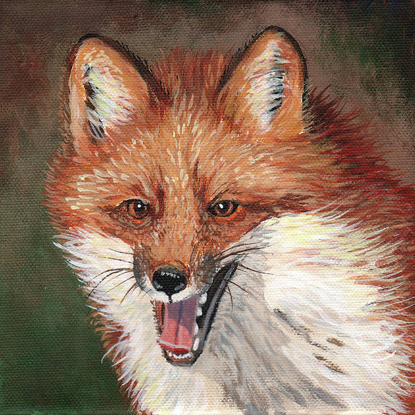 Wall Art - Painting - Foxy by Timithy L Gordon