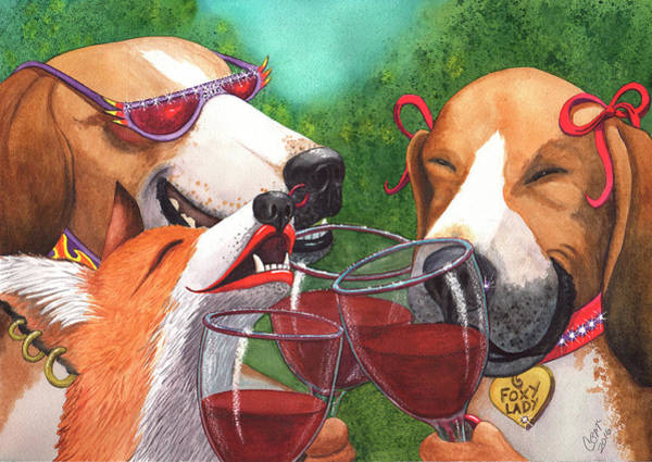 Painting - Foxy Winers by Catherine G McElroy