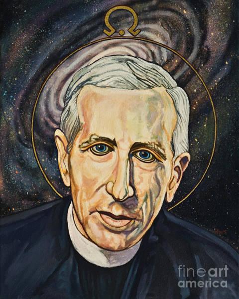 Painting - Fr. Pierre Teilhard De Chardin - Lwptc by Lewis Williams OFS
