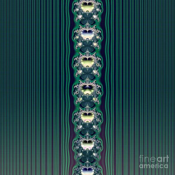 Digital Art - Fractal 43 Aqua Butterflies And Stripes Wallpaper by Rose Santuci-Sofranko