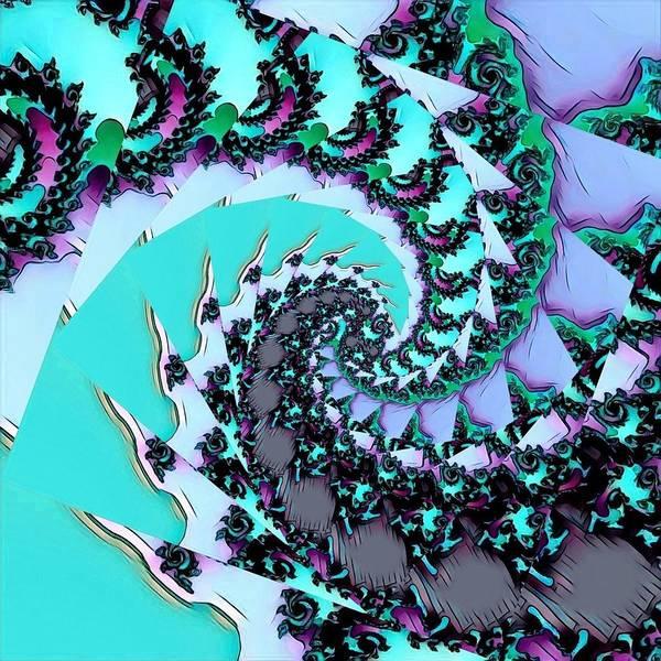 Digital Art - Fractal Abstract 40 by Belinda Cox