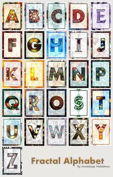 Digital Art - Fractal - Alphabet by Anastasiya Malakhova