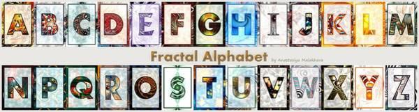 Digital Art - Fractal - Alphabet - Banner by Anastasiya Malakhova