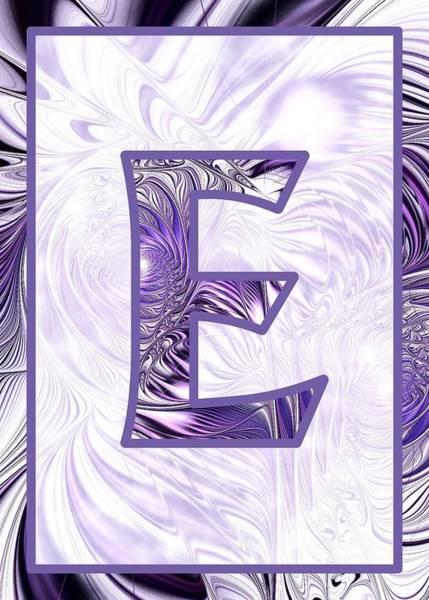 Digital Art - Fractal - Alphabet - E Is For Elegance by Anastasiya Malakhova