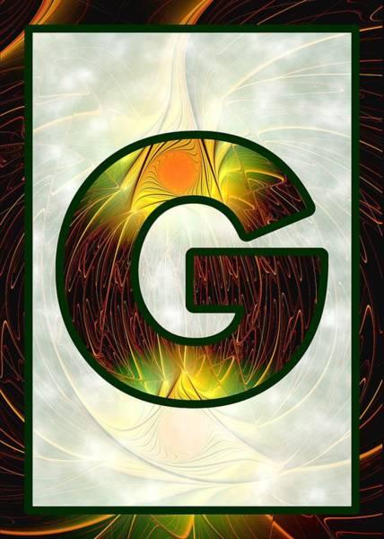 Digital Art - Fractal - Alphabet - G Is For Glow In The Dark by Anastasiya Malakhova