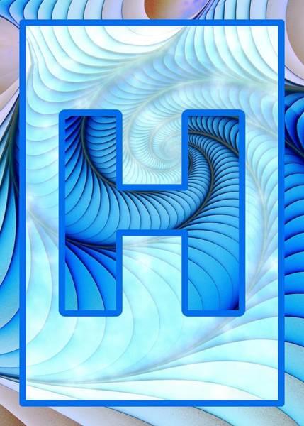Digital Art - Fractal - Alphabet - H Is For Hypnosis by Anastasiya Malakhova
