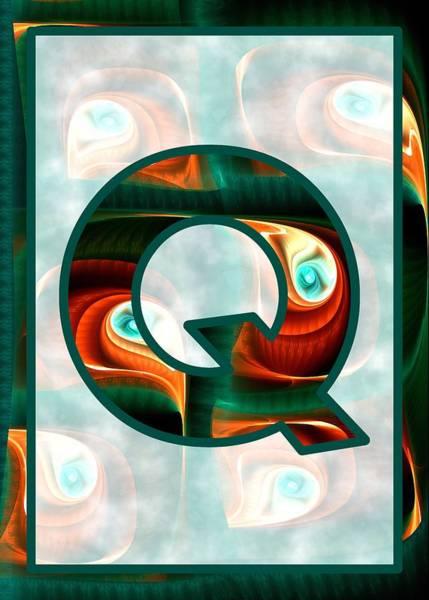 Digital Art - Fractal - Alphabet - Q Is For Quizzical by Anastasiya Malakhova