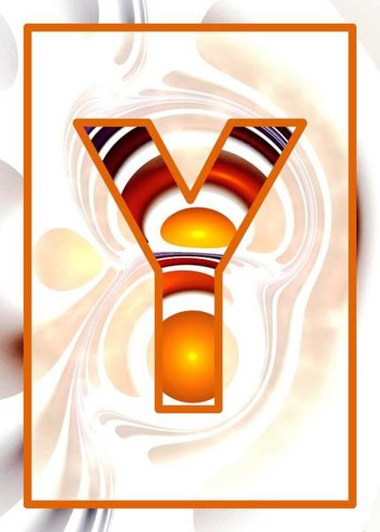 Digital Art - Fractal - Alphabet - Y Is For Yolk by Anastasiya Malakhova