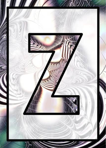 Digital Art - Fractal - Alphabet - Z Is For Zebra Colors by Anastasiya Malakhova