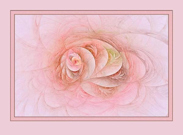 Digital Art - Fractal Florus With Border by Doug Morgan