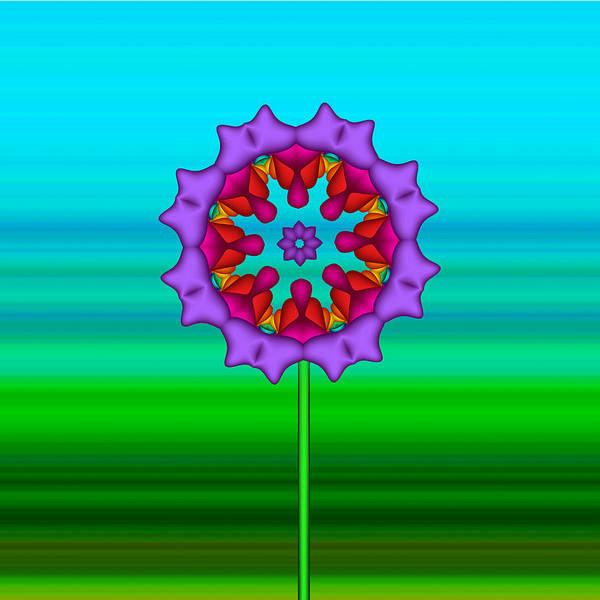 Digital Art - Fractal Flower Garden Flower 02 by Ruth Moratz