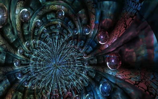 Digital Art - Fractal Moons by Digital Art Cafe