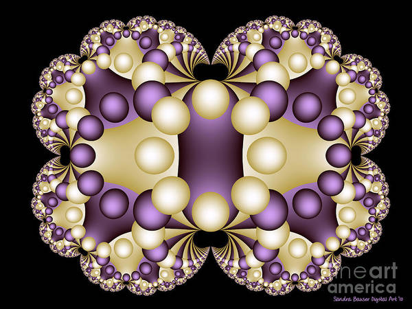 Digital Art - Fractal Pearls by Sandra Bauser Digital Art