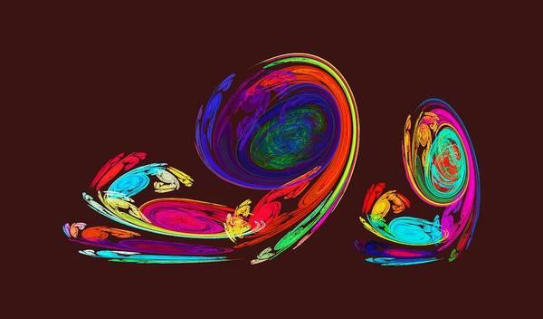 Photograph - Fractal - Snail Family by Susan Savad