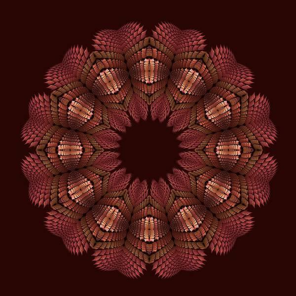 Digital Art - Fractal Wreath-32 Salmon T-shirt by Doug Morgan