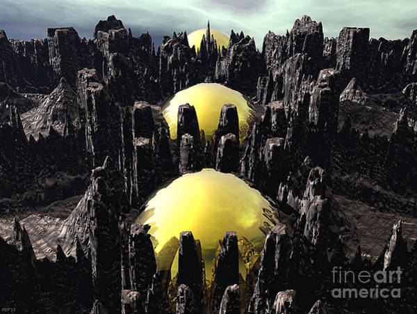 Fractal Landscape Digital Art - Fractaland by Phil Perkins