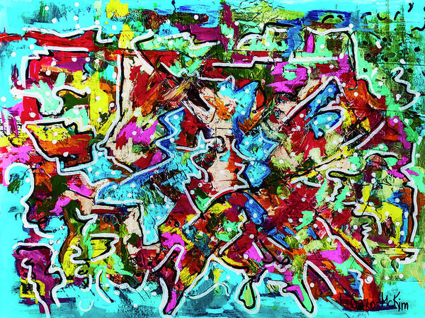 Painting - Fractured Rhythm 3 by Jo-Anne Gazo-McKim